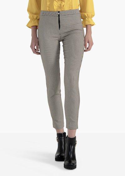 Pantaloni Piramo in jacquard elasticizzato con zip centrale