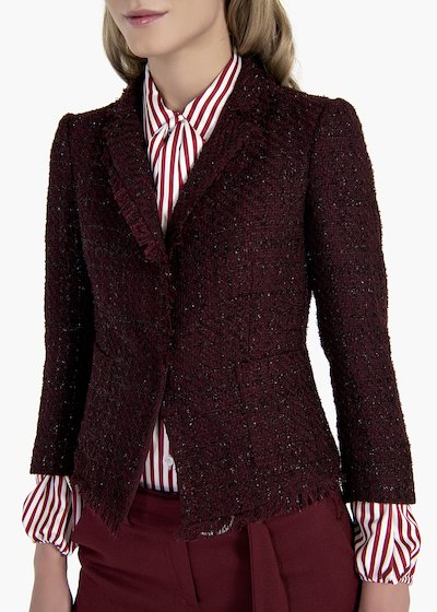Jacket Gloria in bouclè fabric with lurex