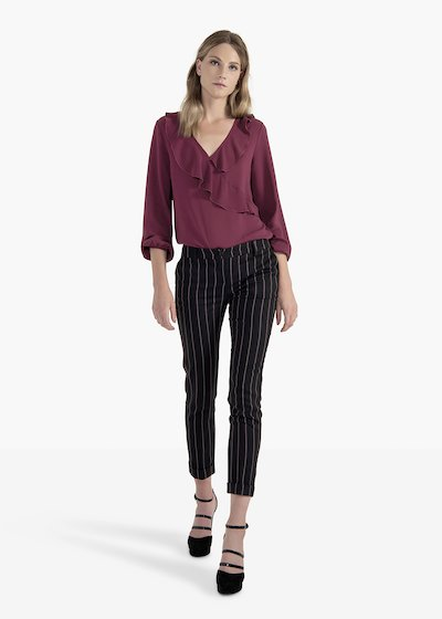 Trousers Phil in poliviscose pinstripe pattern