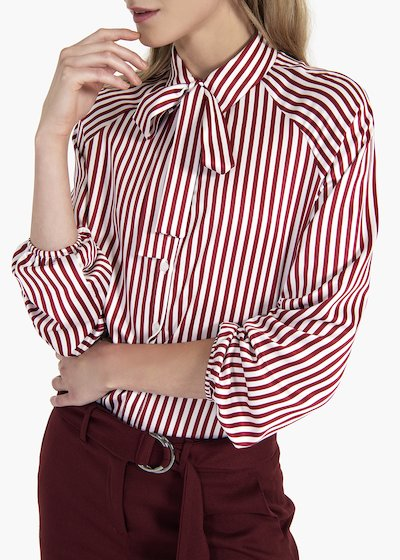 Striped blouse Carla with scarf