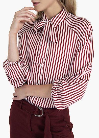 Camicia Carla a righe con sciarpina