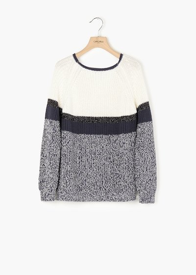 Mael sweater with round neckline and raglan sleeves