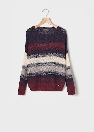 Sweater with striped pattern