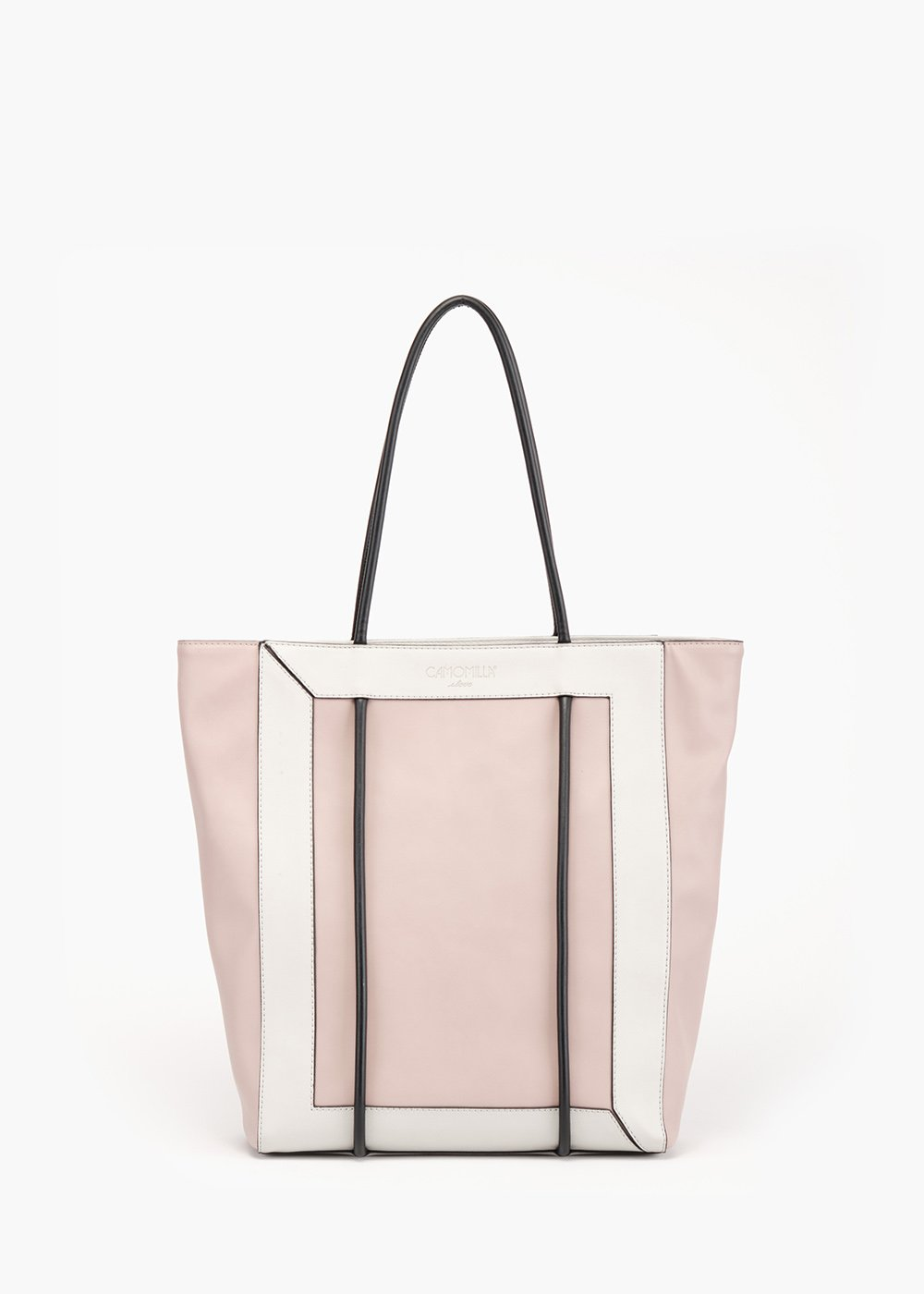 Bedey shopping bag with tubular handle - Polvere / Grezzo - Woman