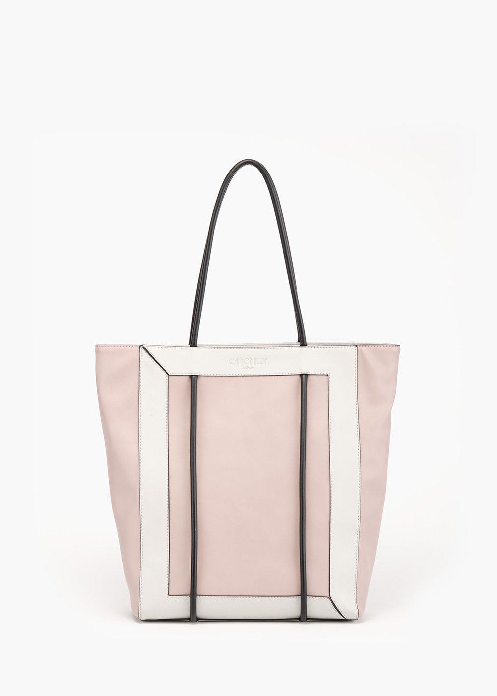 Bedey shopping bag with tubular handle - Polvere / Grezzo - Woman