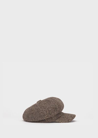 Carlis beret in herringbone fabric