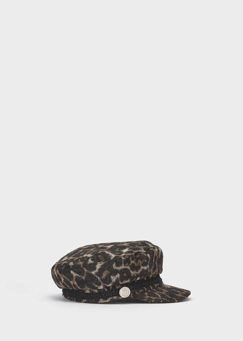 Croy beret with spotted print - Black / Suolo Animalier - Woman