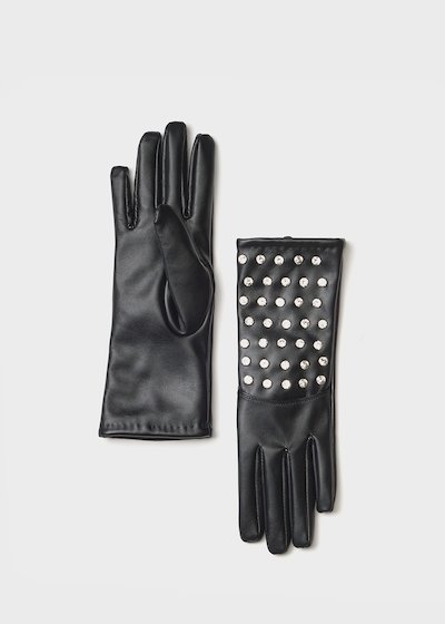 Gianet gloves with crystals