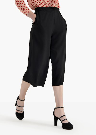 Pantaloni Megan in crêpe con tasche