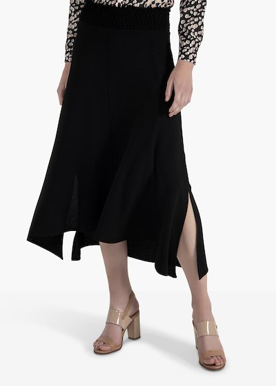 Ginevra skirt with elastic waistnad and side slit