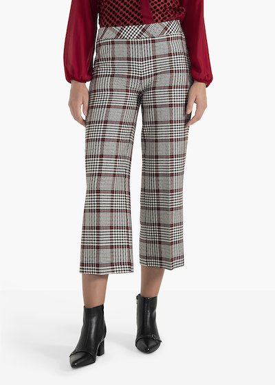 Megan model trousers Plinio in check fabric