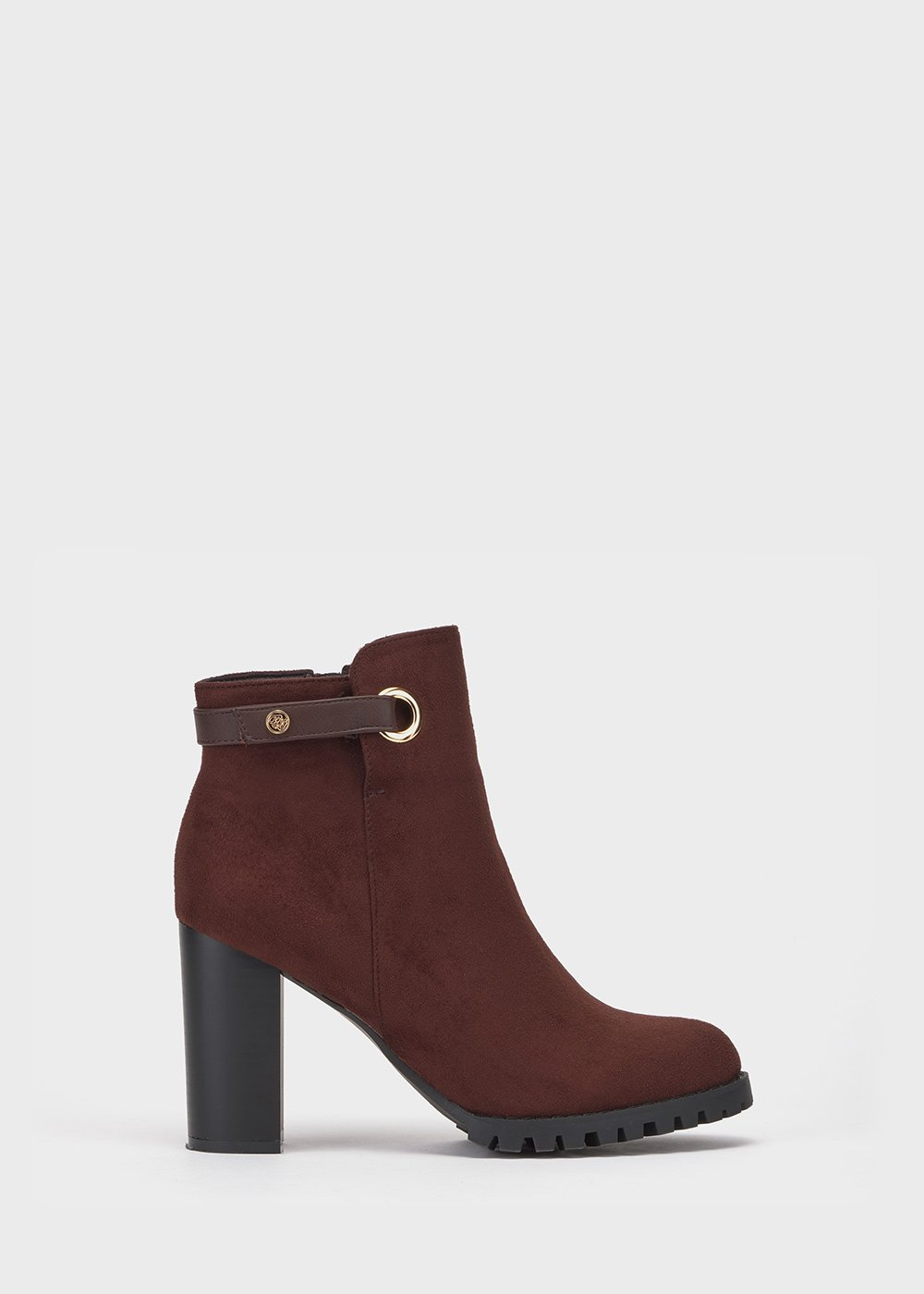 Sissy faux-suede ankle boots - Brown - Woman