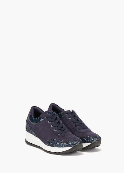 Gym shoes Stay in eco suede and glitter decoration