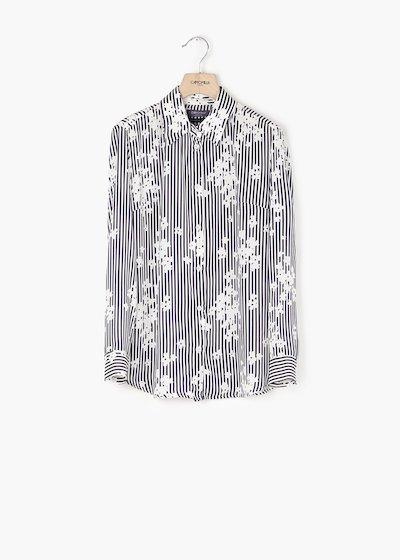 Camicia Alessia con stampa righe e fiori