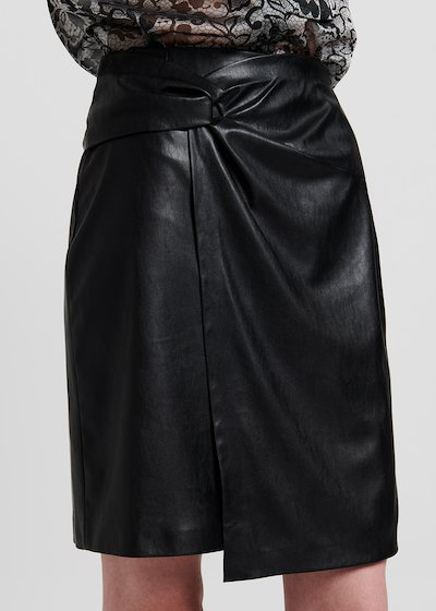 Faux-leather gennifer skirt