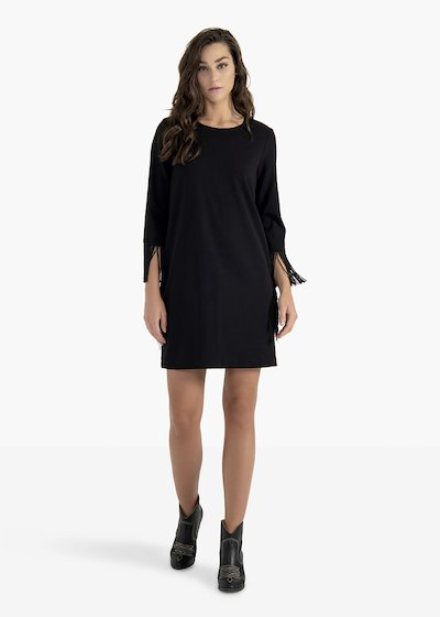 Artur crêpe dress with round neckline