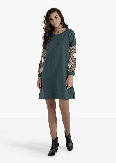 Axel long-sleeved dress with a madonna neckline