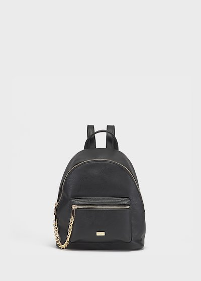 Brash brushed backpack with chain