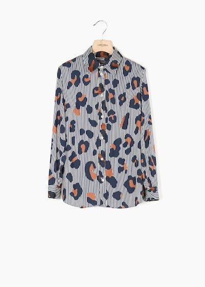 Camicia Alessia in jersey con dettagli in satin