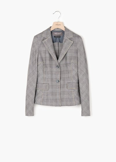 Giulia jacket with double button, lapels and flaps on the front