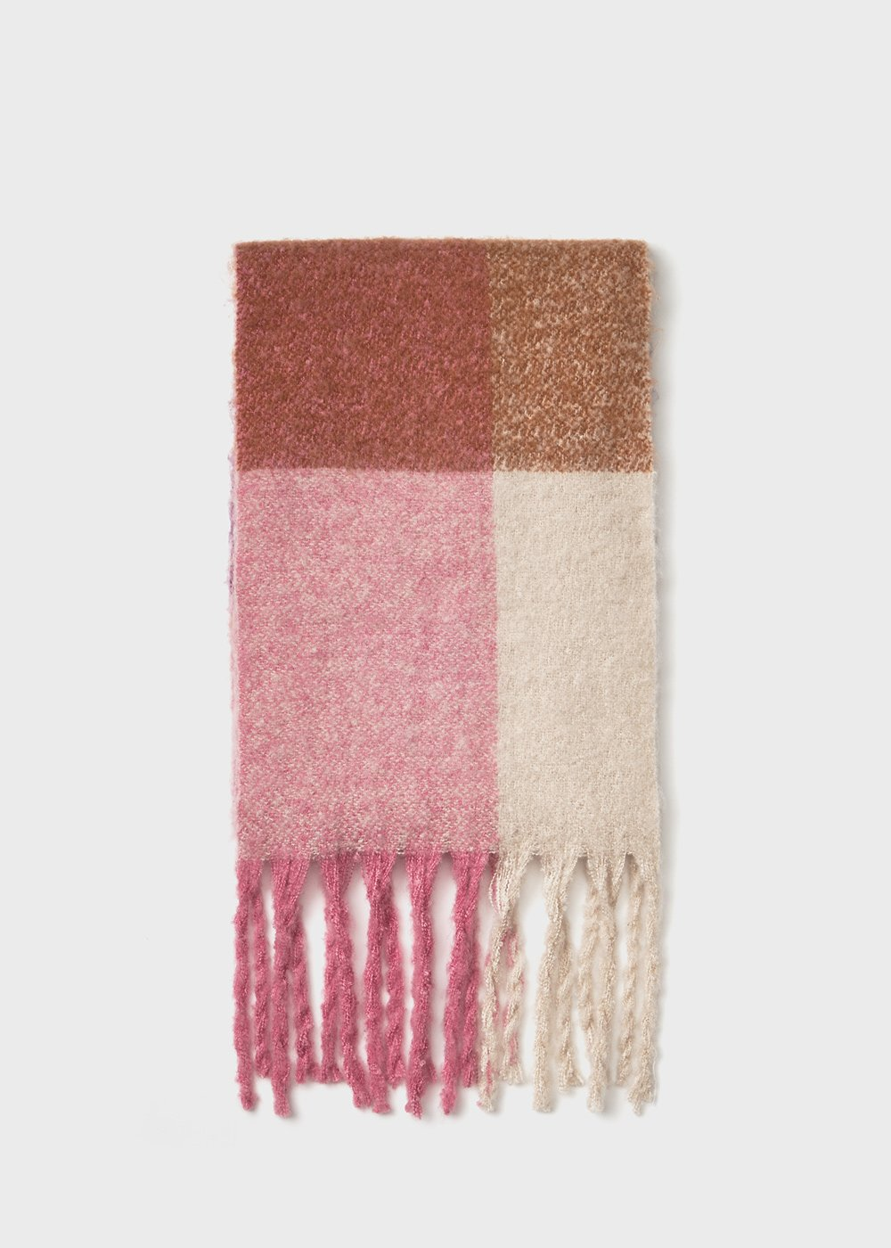 Swish maxi scarf with fringes at the bottom - Grezzo Stripes - Woman