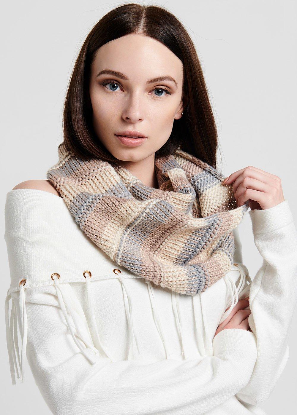 Striped scarf - Fog - Woman