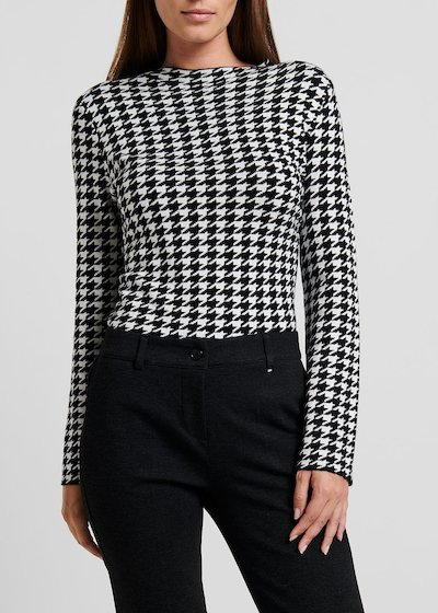 Miriana sweater with houndstooth pattern