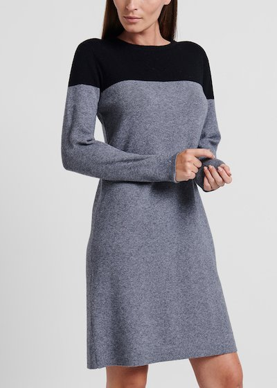 Two-tone viscose dress