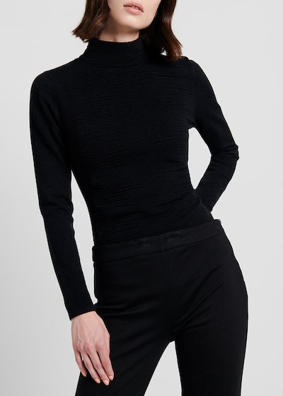 Turtleneck narrow-ribbed sweater