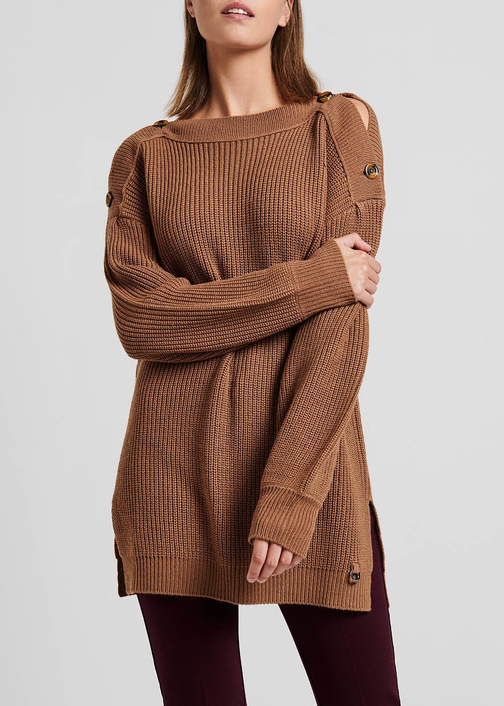 Ground-coloured sweater - Woman