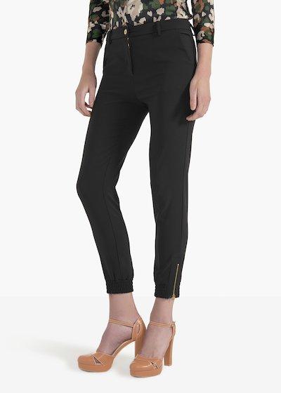 Pantaloni Jane in tessuto tecnico con zip ed elastico al fondo