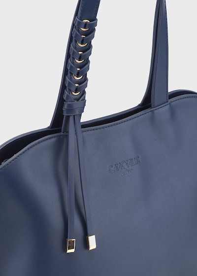 Belen faux-leather shopping bag