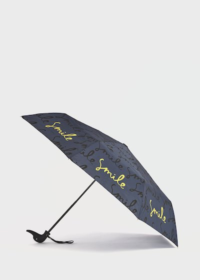 Umbrella with duck handle with flowers pattern