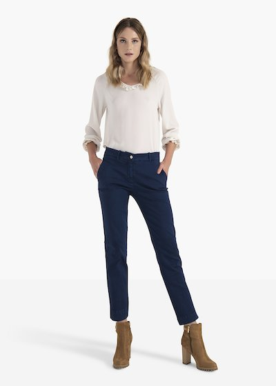 Alice cotton trousers with men's pockets