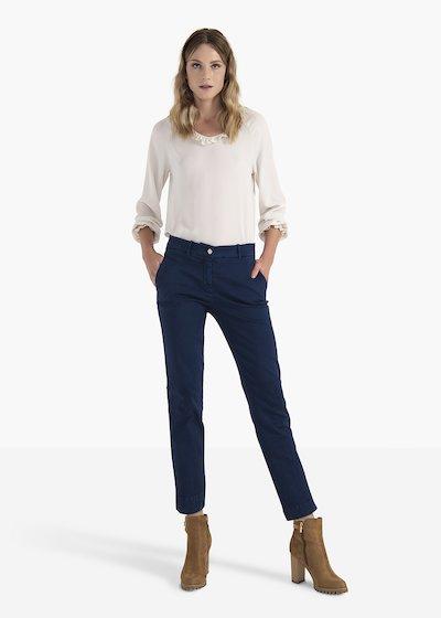 Pantaloni Alice in cotone con tasche ad uomo