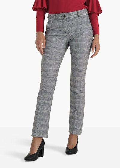 Paddy trousers in check fabric with micro dots