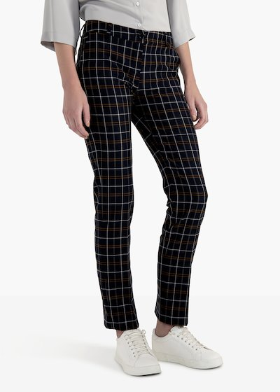 Clair trousers in check pattern polyvinol with men's pockets