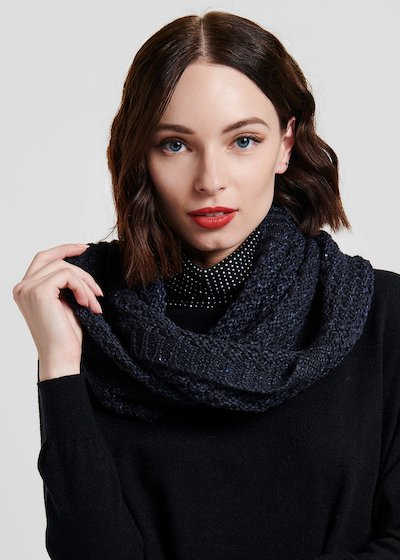 Medium blue ring scarf