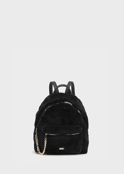 Faux-fur backpack