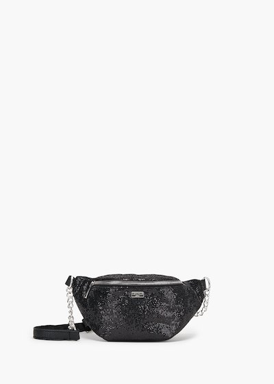 Glitter fanny pack  in glittery faux leather