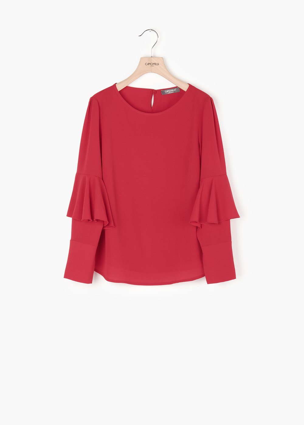 Clara shirt with long sleeves - Red - Woman