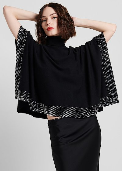 Mikela cape sweater in viscose fabric