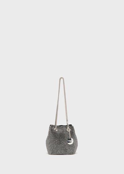 Micro secchiello Brake in maglia di strass