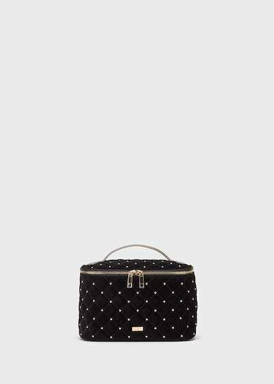 Black velvet Bibys washbag