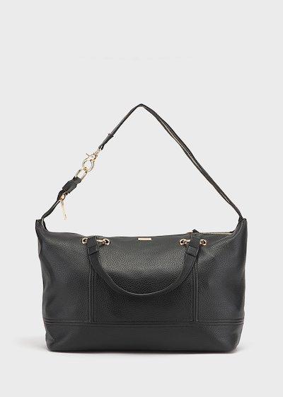 Shopping bag Betty con maxi zip in light gold