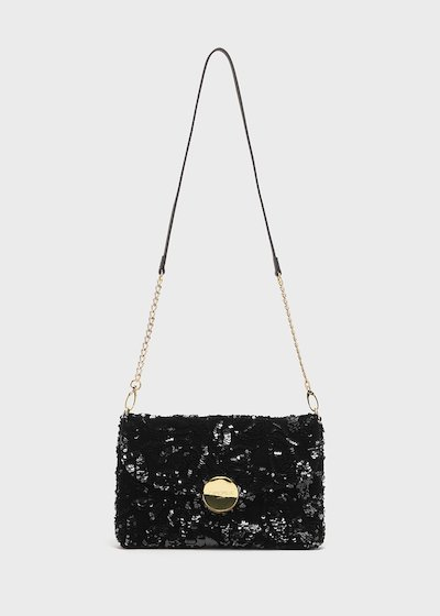 Badu sequin clutch bag with shoulder strap