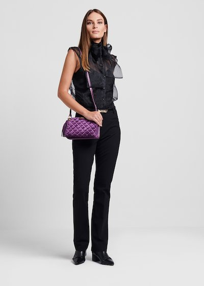 Balu quilted velvet clutch bag