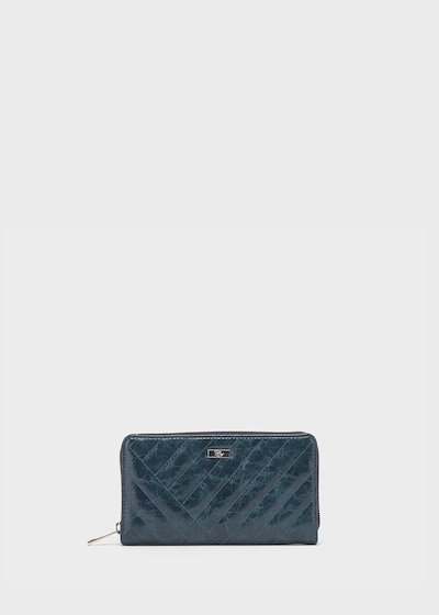 Peggy patent faux-leather wallet