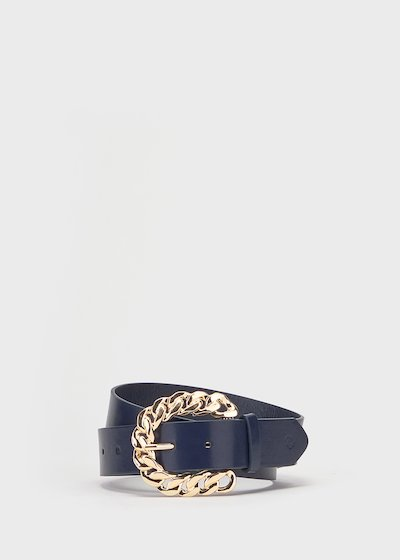 Blue faux-leather Catyn belt