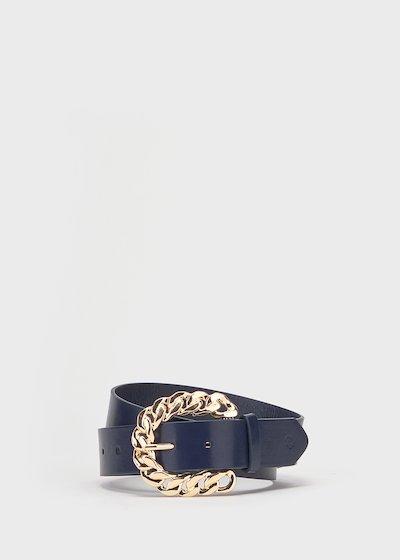 Cintura Catyn in ecopelle blu